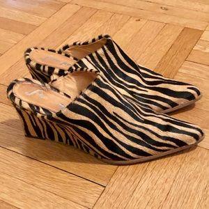 Free People Tiger Stripe Mules